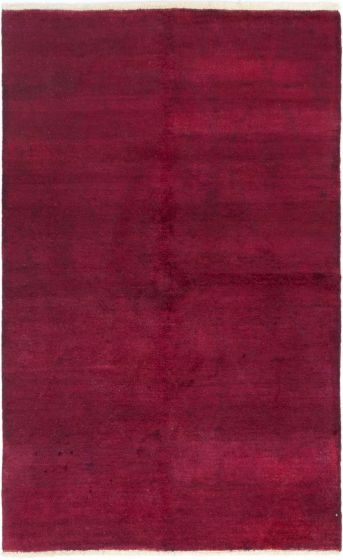 Overdyed  Solid Red Area rug 5x8 Indian Hand-knotted 280550