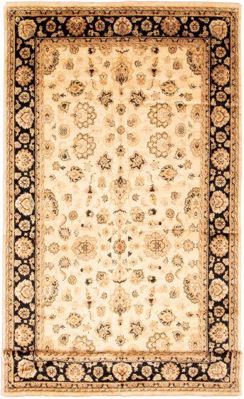 Bordered  Traditional Ivory Runner rug 18-ft-runner Afghan Hand-knotted 338586