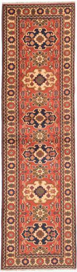 Tribal Brown Runner rug 10-ft-runner Afghan Hand-knotted 203272