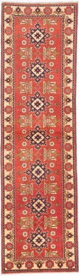 Tribal Brown Runner rug 10-ft-runner Afghan Hand-knotted 203316