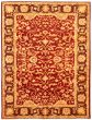 Bordered  Traditional Red Area rug 9x12 Afghan Hand-knotted 330587