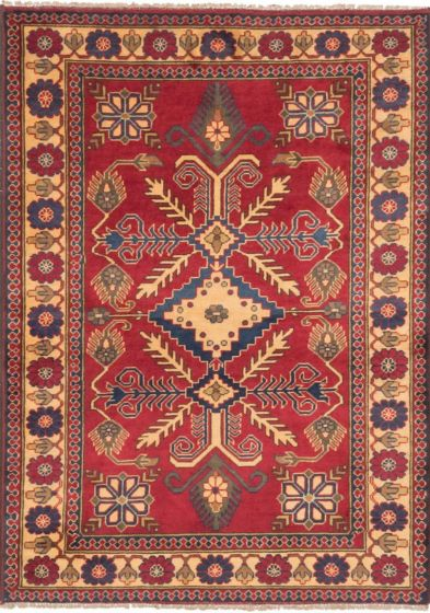 Traditional Red Area rug 3x5 Afghan Hand-knotted 203256