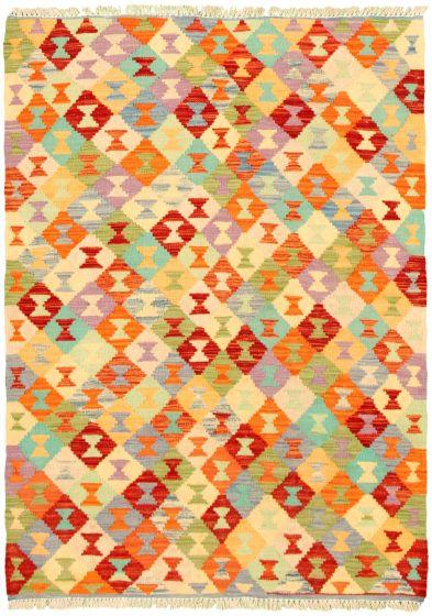 Flat-weaves & Kilims  Geometric Multi Area rug 3x5 Turkish Flat-weave 330185