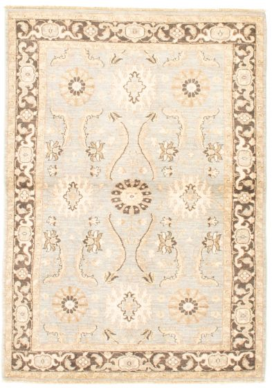 Bordered  Traditional Blue Area rug 3x5 Afghan Hand-knotted 331598