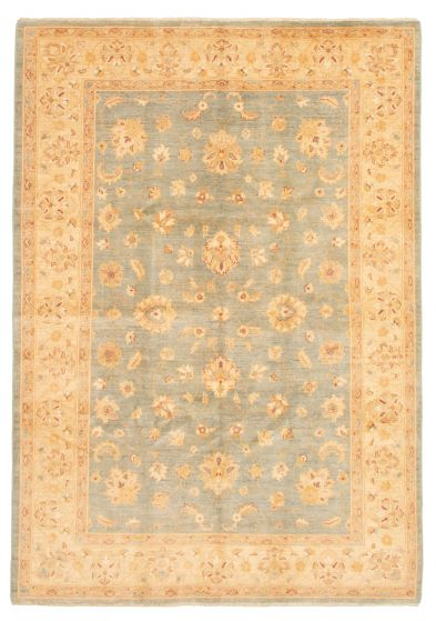 Bordered  Traditional Blue Area rug 5x8 Afghan Hand-knotted 331619