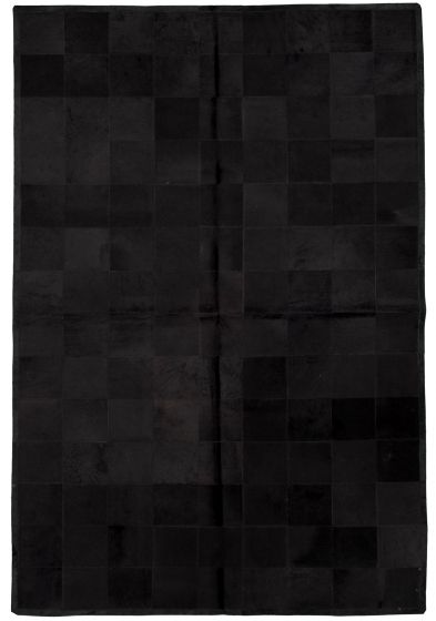 Accent  Transitional Black Area rug 5x8 Argentina Handmade 331707