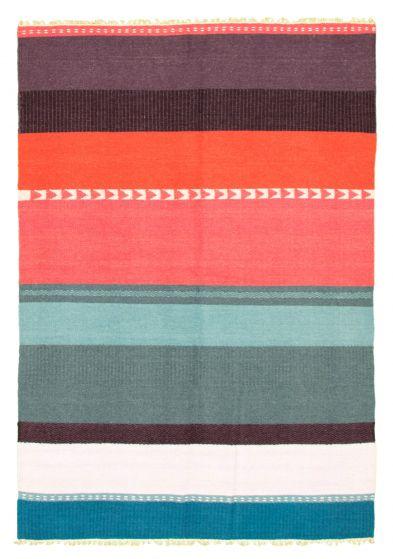Flat-weaves & Kilims  Transitional Multi Area rug 5x8 Turkish Flat-weave 344442