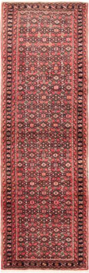 """Persian Vintage 2'9"""" x 9'9"""" Hand-knotted Wool Red Rug"""