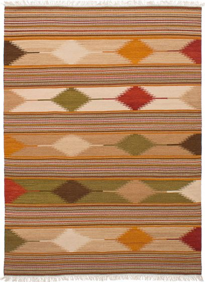 Transitional Brown Area rug 5x8 Turkish Flat-weave 228434