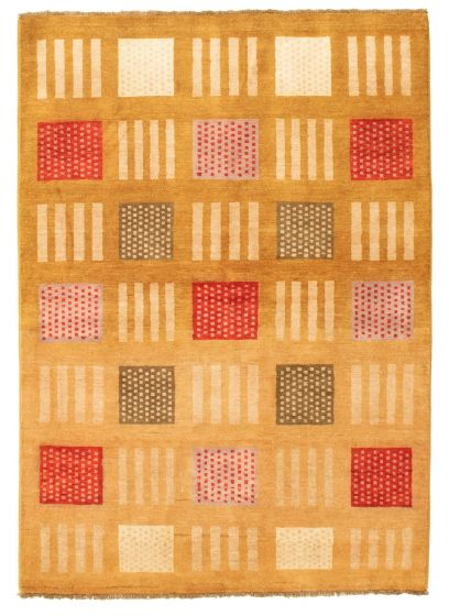 Casual  Transitional Brown Area rug 3x5 Pakistani Hand-knotted 331310