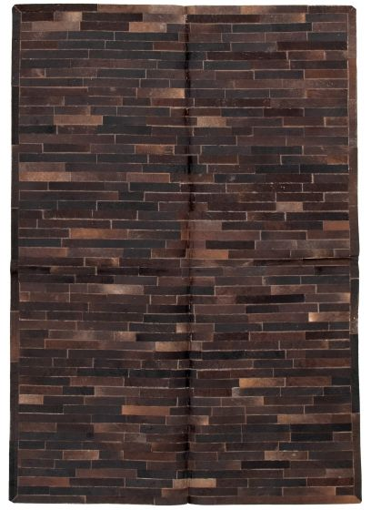 Accent  Transitional Brown Area rug 5x8 Argentina Handmade 331711