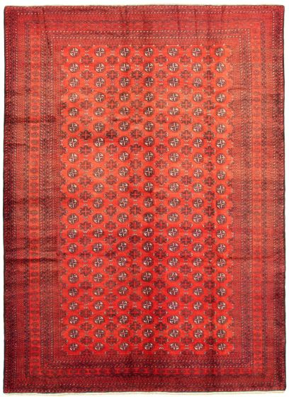 Bordered  Tribal Red Area rug 6x9 Afghan Hand-knotted 342387