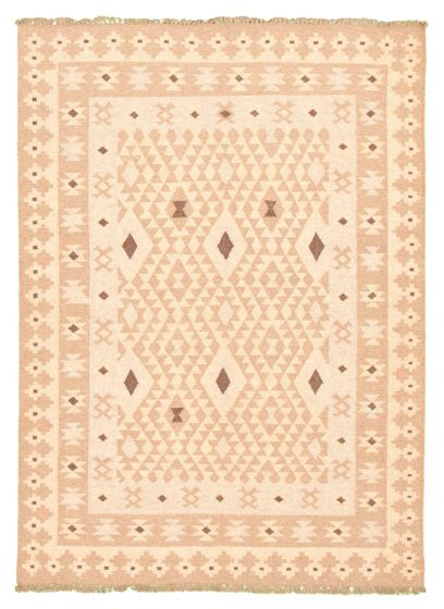 Flat-weaves & Kilims  Traditional Brown Area rug 5x8 Turkish Flat-weave 344465