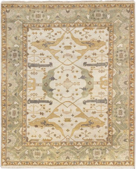 Traditional Blue Area rug 6x9 Indian Hand-knotted 184225