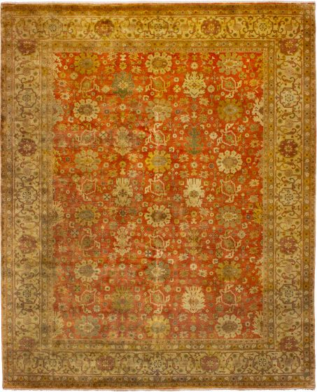 Bohemian  Traditional Brown Area rug 6x9 Indian Hand-knotted 272387
