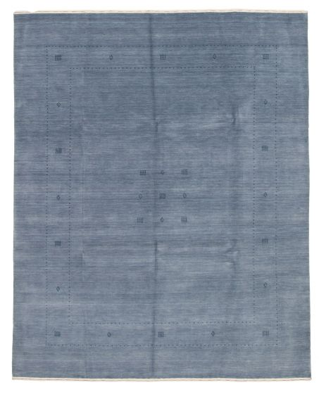 Gabbeh  Tribal Blue Area rug 6x9 Indian Hand-knotted 331223