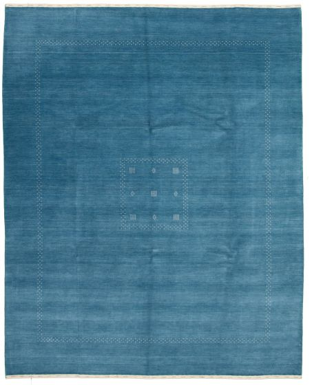 Gabbeh  Tribal Blue Area rug 6x9 Indian Hand-knotted 331238