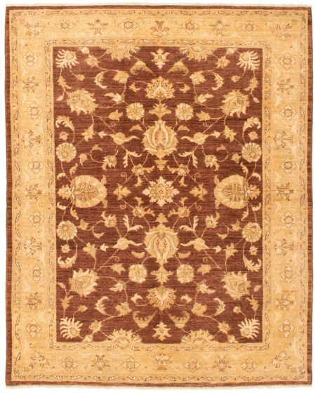 Bordered  Traditional Brown Area rug 4x6 Afghan Hand-knotted 336051
