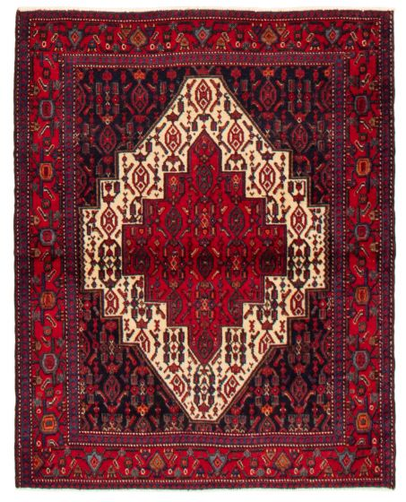 Bordered  Traditional Blue Area rug 3x5 Persian Hand-knotted 358060