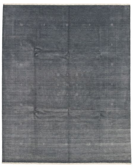 Gabbeh  Tribal Grey Area rug 6x9 Indian Hand-knotted 331210