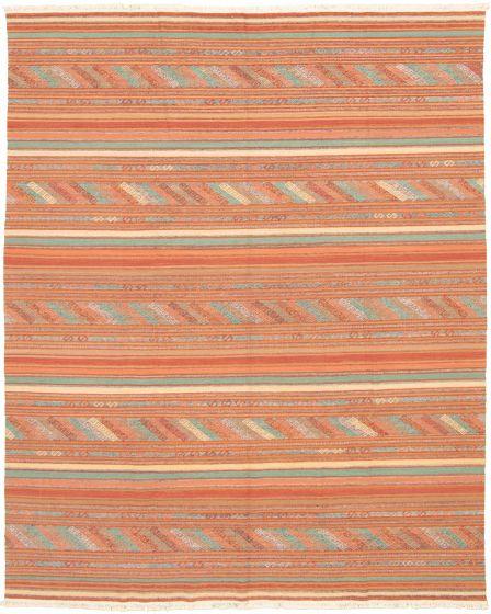 Bohemian  Transitional Brown Area rug 6x9 Turkish Flat-weave 335882