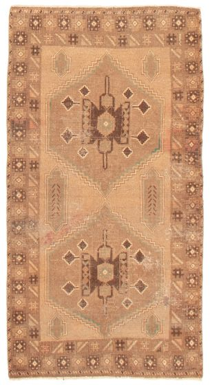 Geometric  Vintage Brown Area rug 3x5 Afghan Hand-knotted 367557