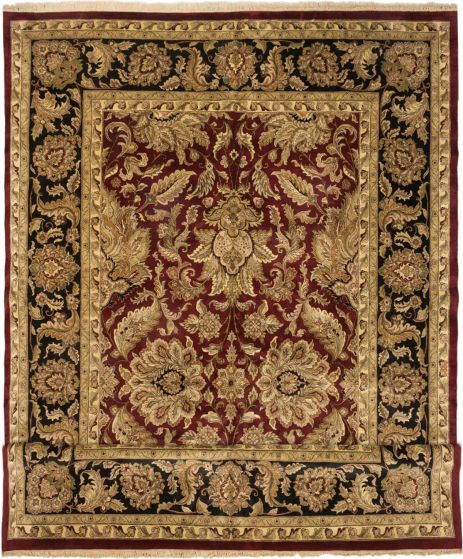 Traditional Red Area rug Oversize Indian Hand-knotted 164849