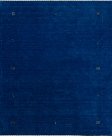 Gabbeh  Solid Blue Area rug 6x9 Indian Hand-knotted 279585