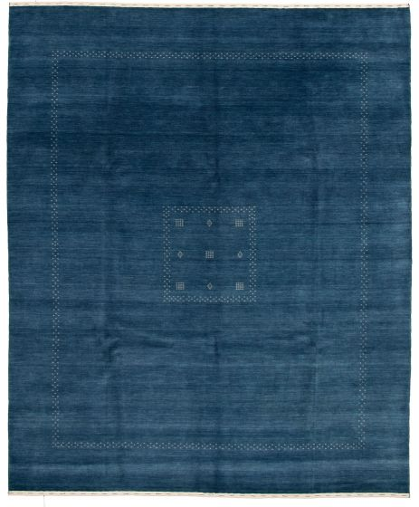 Gabbeh  Tribal Blue Area rug 6x9 Indian Hand-knotted 331234